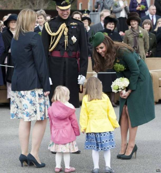 Kate meets wee girls