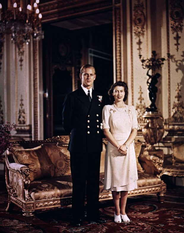 QEII and Prince Philip Fiance