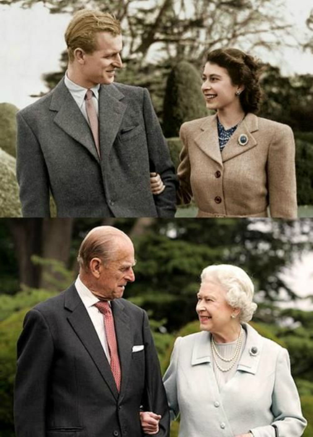 Then + Now Prince Philip QEII