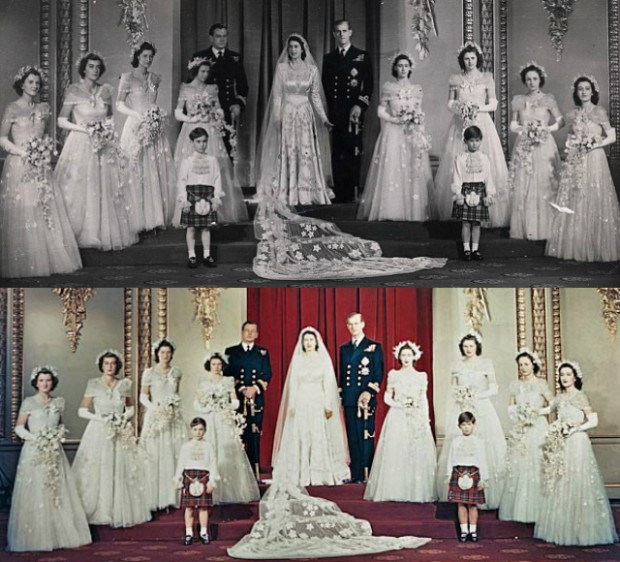 Princess Elizabeth + Prince Philip Wedding