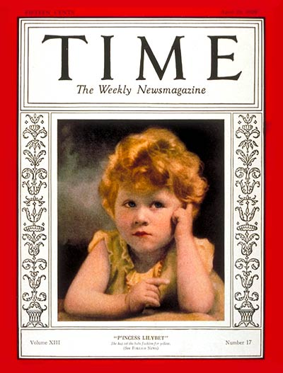 Time Magazine Cover 1929