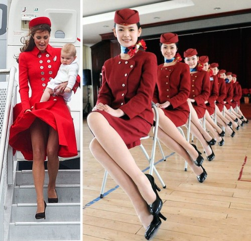 Royal Tour Flight Attendant Looks