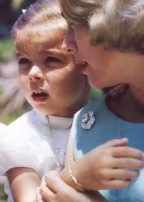 Princess Grace of Monaco with young Princess Caroline