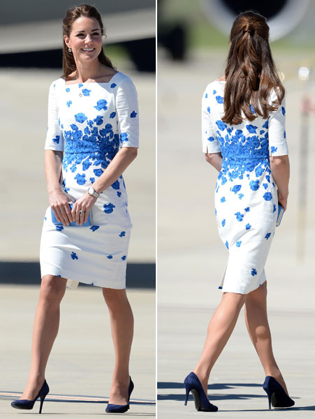 LK Bennett Dress Kate Middleton Oz Tour