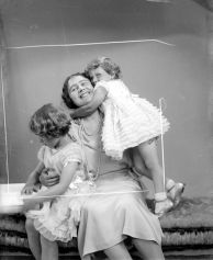 Duchess of York with daughters Princess Elizabeth and Princess Margaret