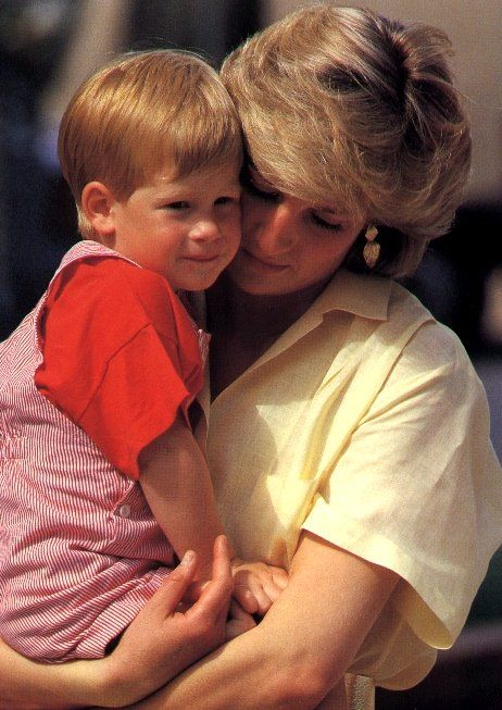 Princess Diana with young Prince Harry
