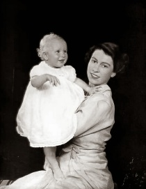 Queen Elizabeth II with Princess Anne