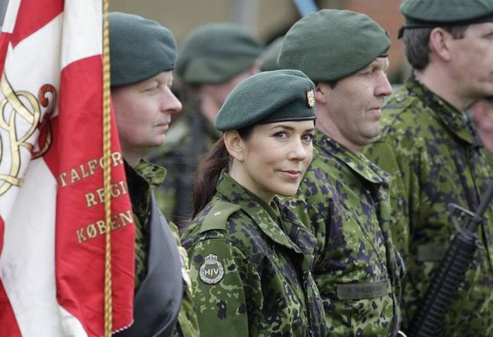 Crown Princess Mary began basic military training in 2008, and in 2009 was made a lieutenant in the Home Guard.