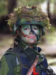 Crown Princess Victoria: Basic military Training at the Swedish Armed Forces International Centre in 2003.