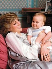 Princess Diana with baby Prince William
