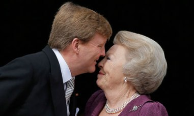 King Willem-Alexander and his mom, former Queen Beatrix