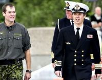 """""""In April 2004, the Crown Prince was appointed as a commander, senior grade in the navy, lieutenant colonel in the army and lieutenant colonel in the air force. Crown Prince Frederik remains active in the defence."""" -kongehuset.dk"""