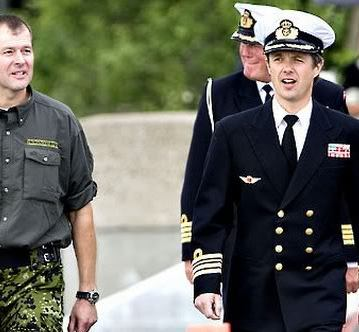 """In April 2004, the Crown Prince was appointed as a commander, senior grade in the navy, lieutenant colonel in the army and lieutenant colonel in the air force. Crown Prince Frederik remains active in the defence."" -kongehuset.dk"