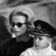 Princess Grace with young Prince Albert