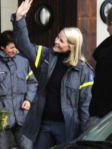 Crown Princess Mette-Marit: Basic Training for the Norwegian Civil Defense in 2009.