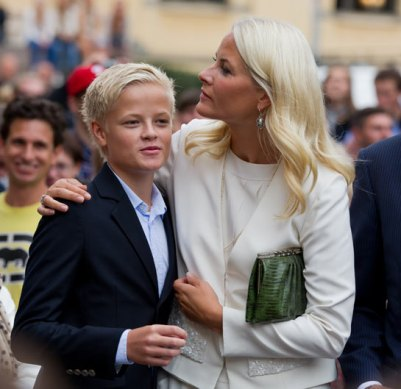 Crown Princess Mette-Marit with son Marius Borg