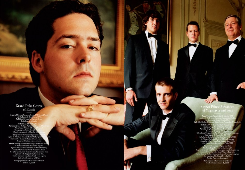 Vanity Fair's Portraits of Royalty