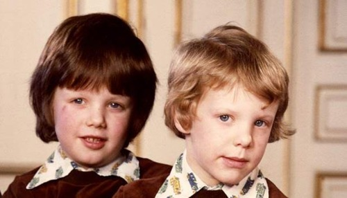 Crown Prince Frederik and Prince Joachim, 1975
