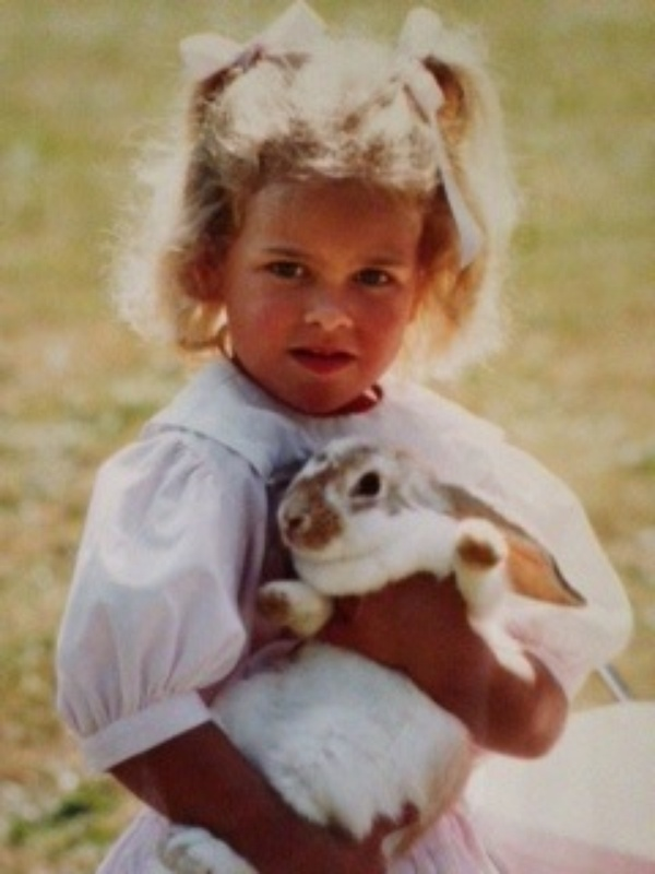Princess Madeleine with her Pet Bunny