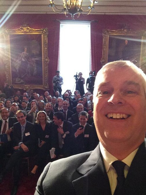 Prince-Andrew-took-first-ever-royal-selfie-April-2014-during