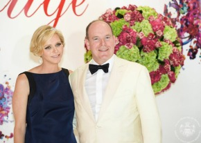 Prince Albert and Princess Charlene at the 66th Annual Monaco Red Cross Ball Gala