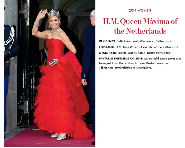 Vanity Fair's Best-Dressed Poll: Crown Princess Mary and Queen Maxima on the ballot