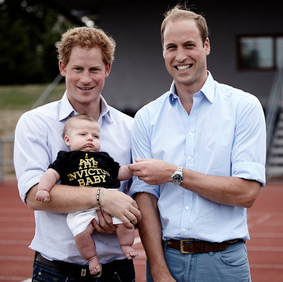 Prince Harry Poses with Baby (Oh, and I guess Prince William was there, too)
