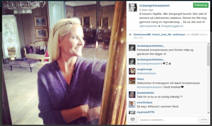 Crown Princess Mette-Marit Joins Instagram