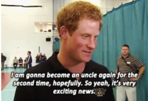 Prince Harry on Royal Baby Number 2 (In.gifs)