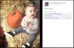 Princess Leonore of Sweden at the PumpkinPatch