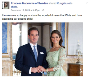Happy New Year! — And Happy News For Princess Madeleine