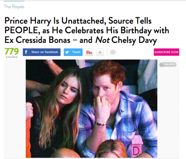 Prince Harry Unattached